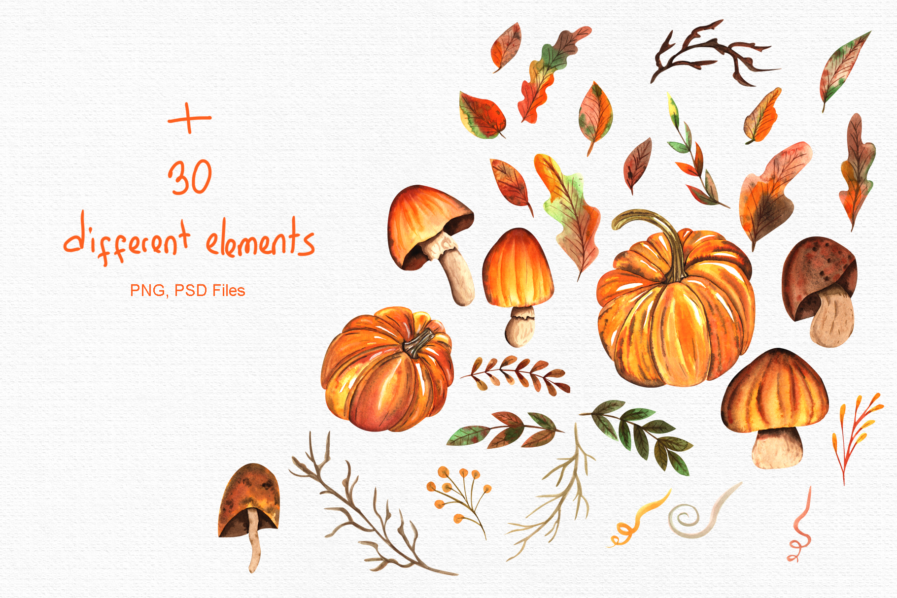 Watercolor Autumn Collection example image 3