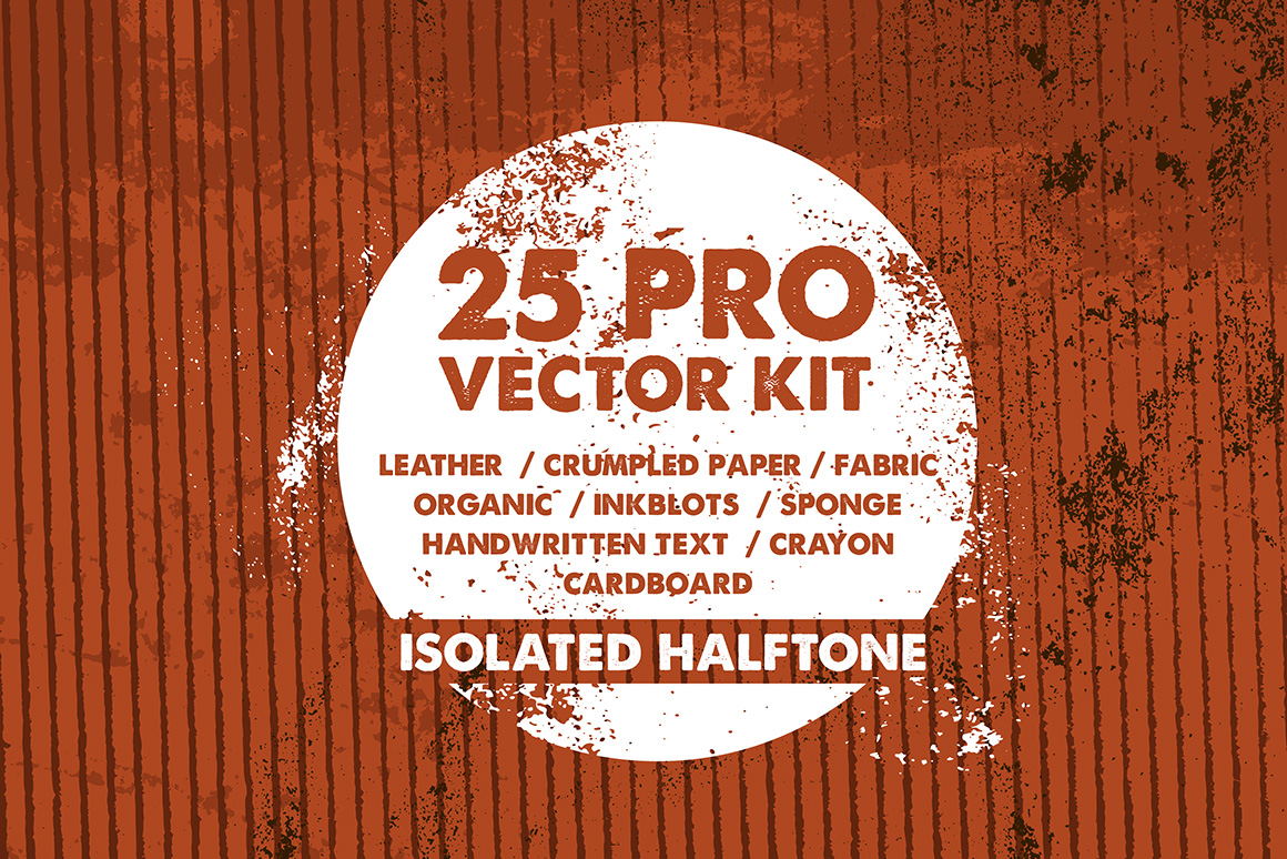 25 Vector Grunge Textures PACK example image 2