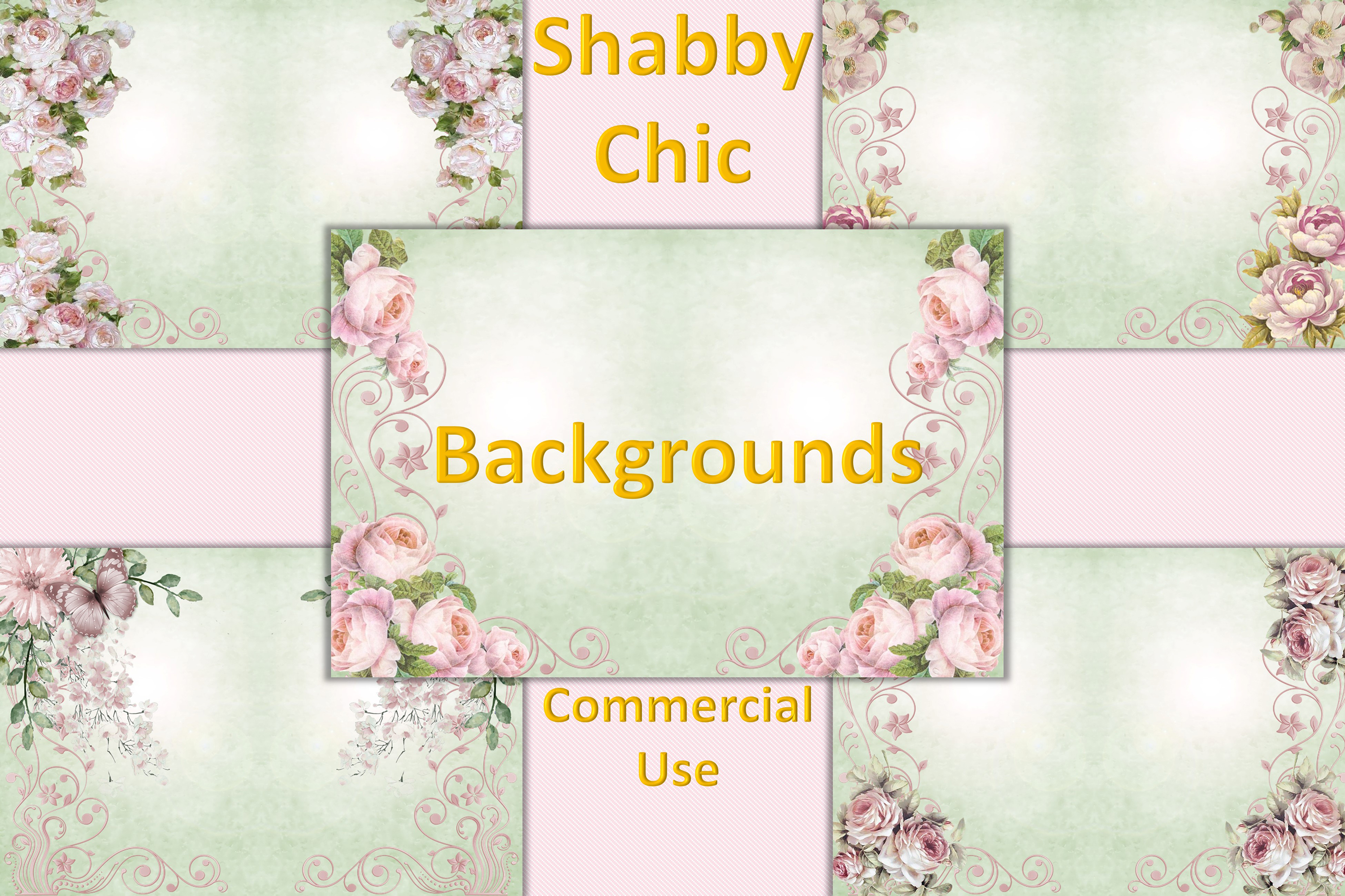 Shabby Chic Backgrounds Journaling or scrapbooking CU. example image 1