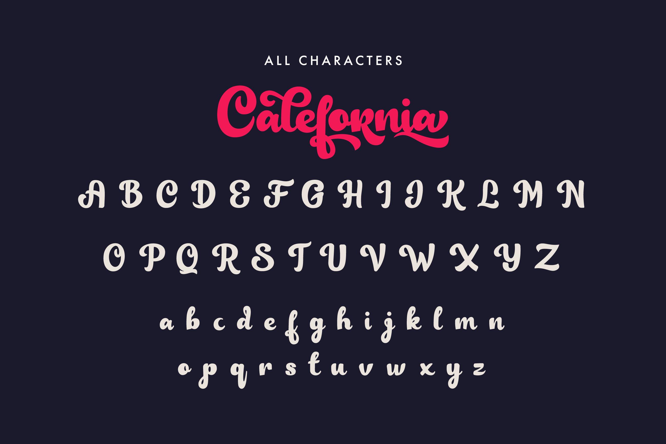 Calefornia Bold Script example image 6