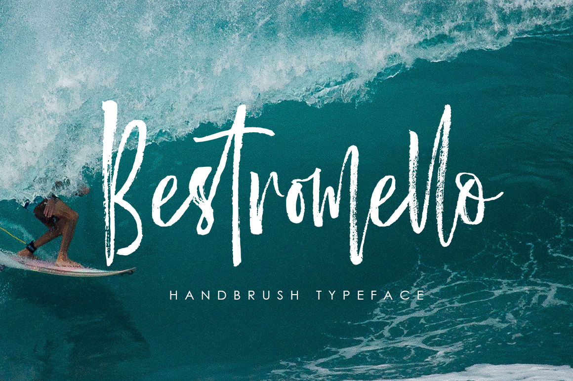 Bestromello Brush Font example image 1