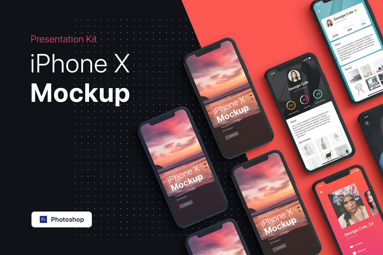 Presentation Kit - iPhone showcase Mockup_v4 example image 4