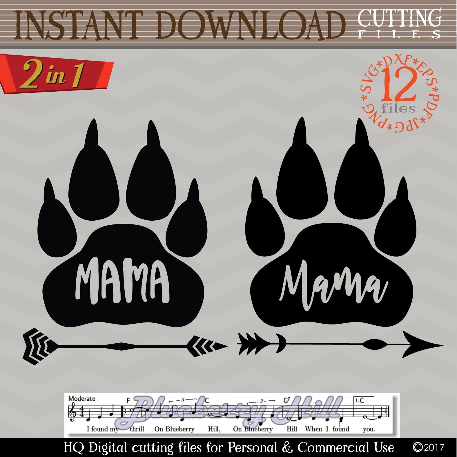 Mama bear paw svg - Mama bear SVG digital - Mama Bear example image 2