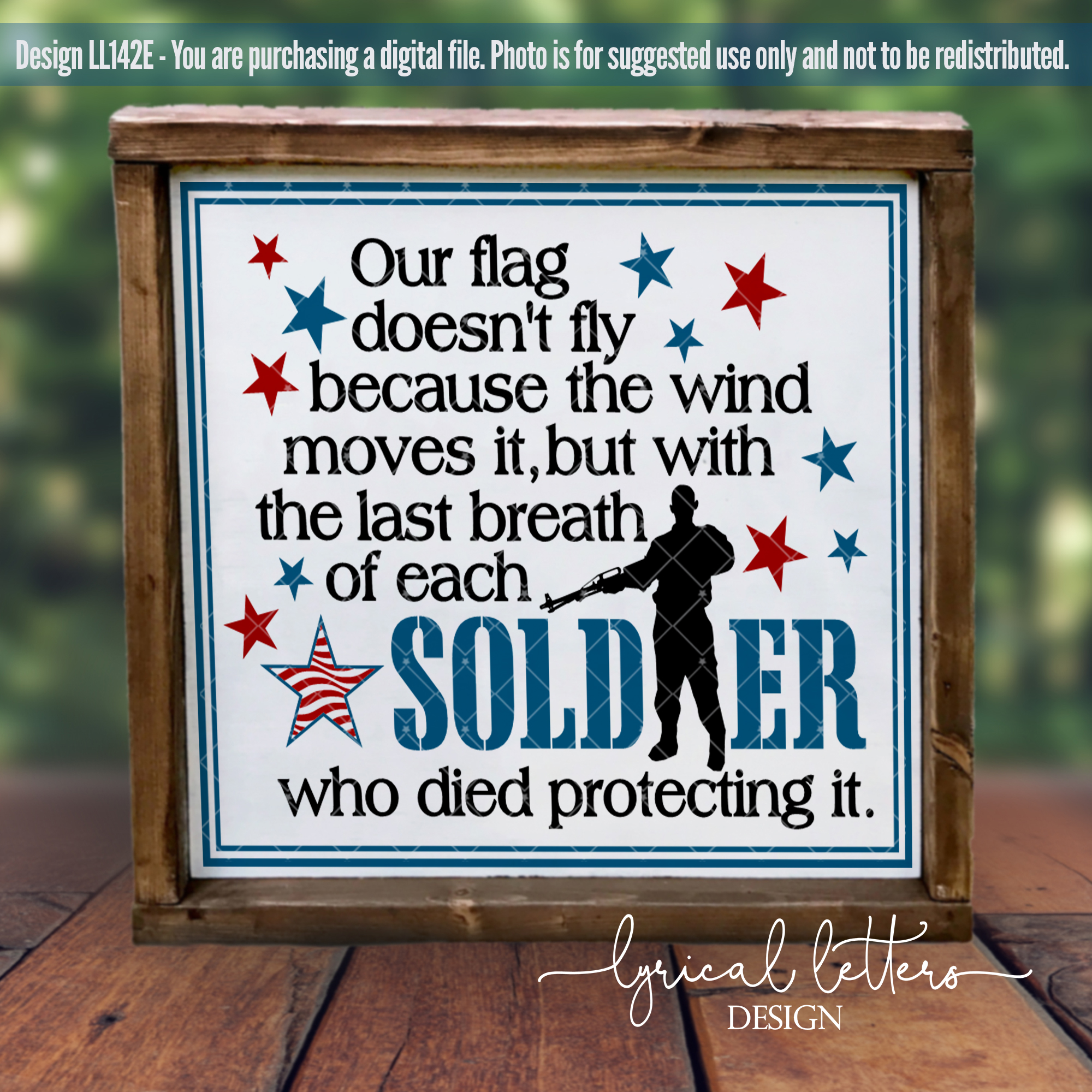 Last Breath of Each Soldier Military SVG Cut File LL142 E example image 2