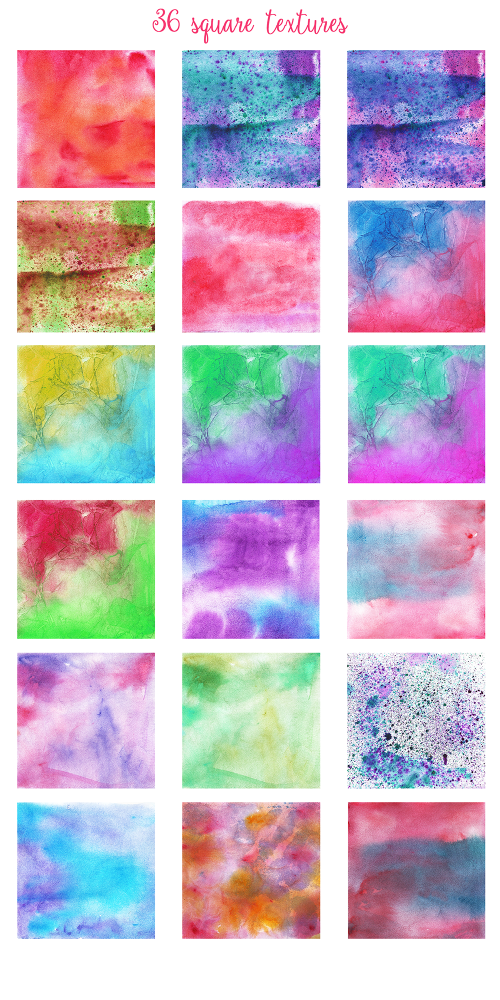 Complet Watercolor Textures Kit example image 5