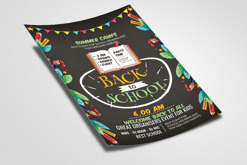 Back To School Party Flyer example image 2