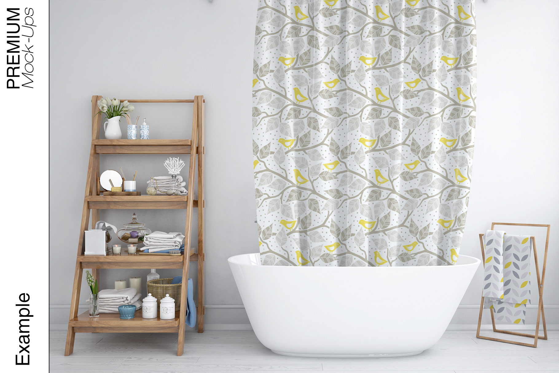 Bath Curtain Mockups example image 14