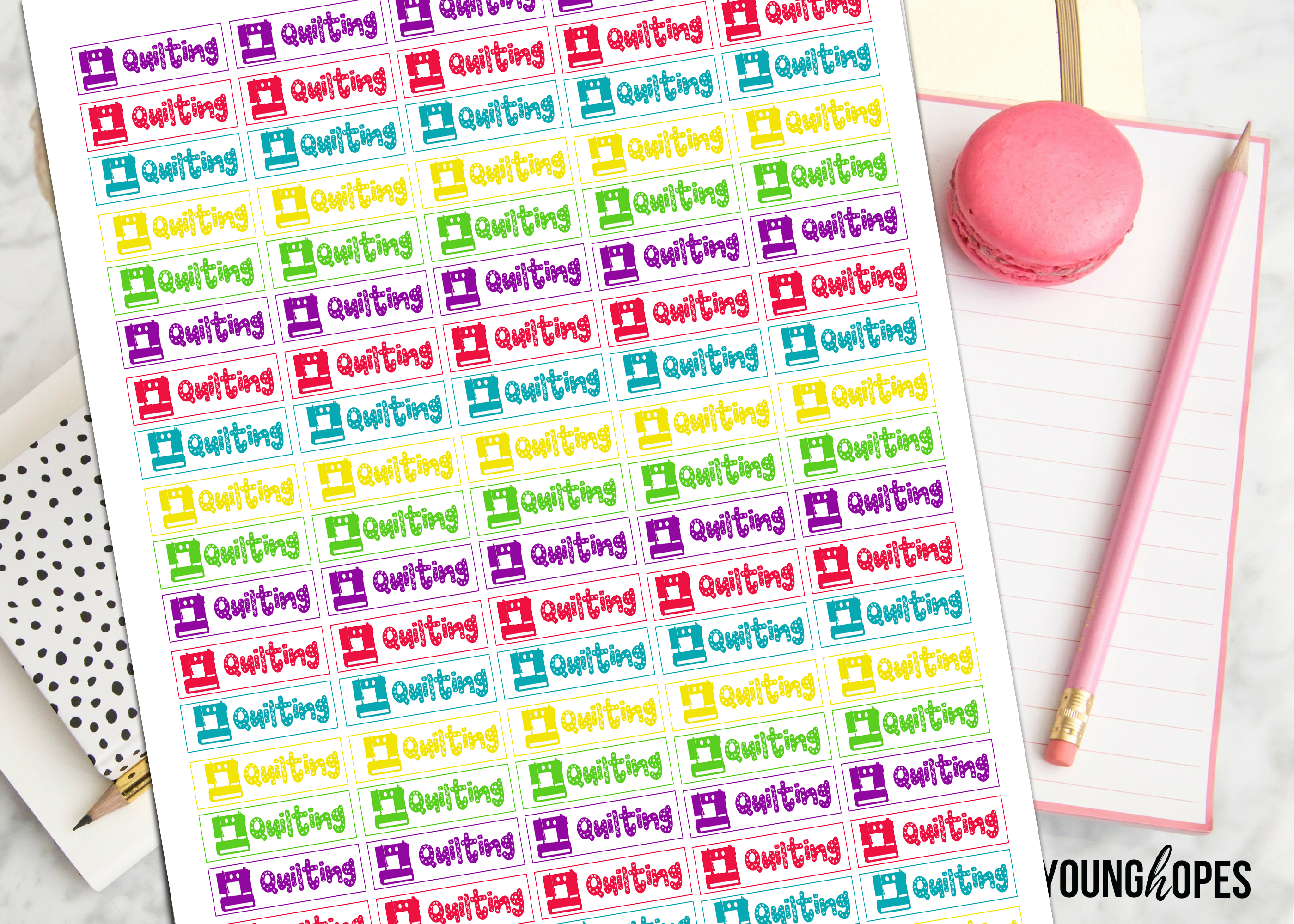 Quilting Planner Stickers-Sewing Planner Stickers example image 2