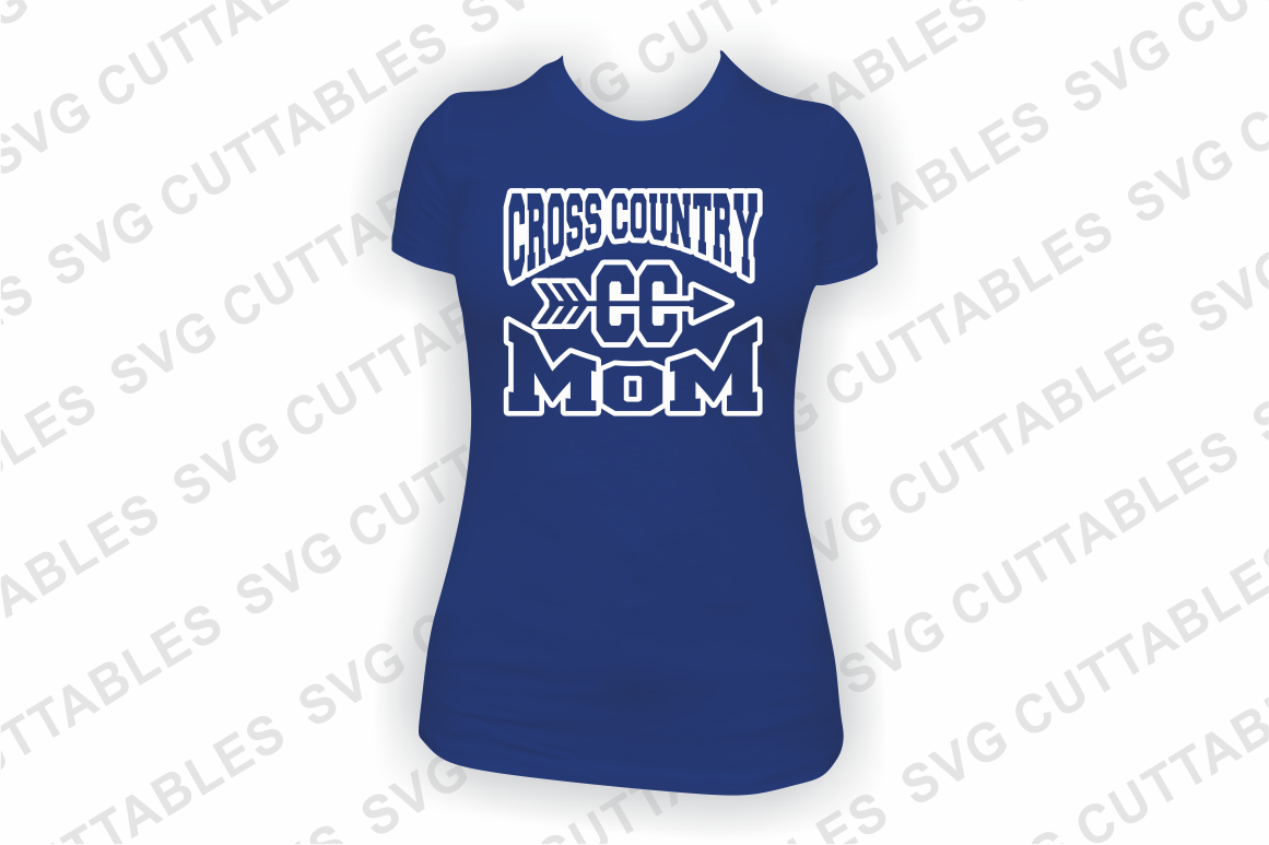 Cross Country Mom cut file example image 3