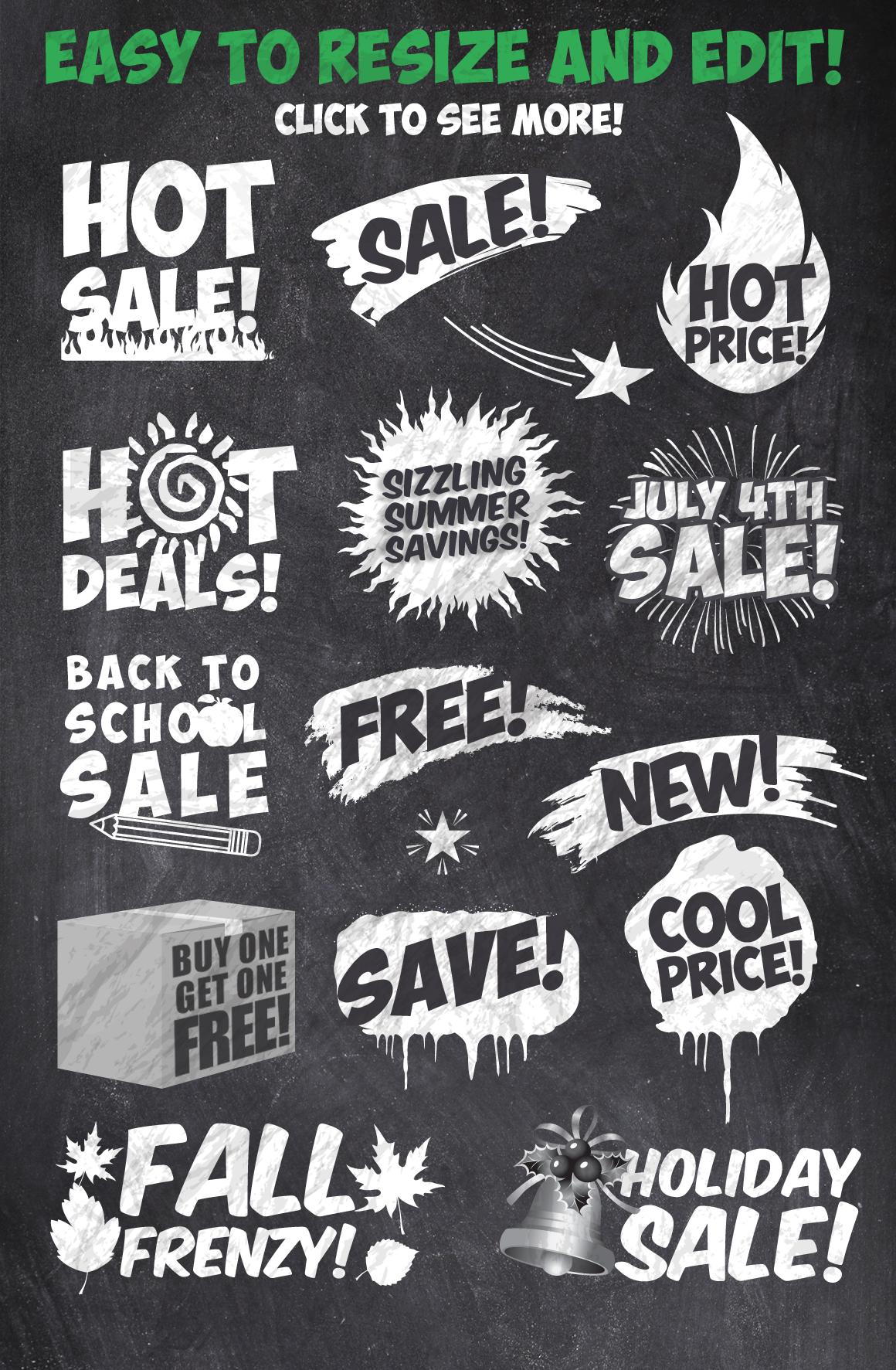 50 Chalk Sales Promo Bundle example image 4