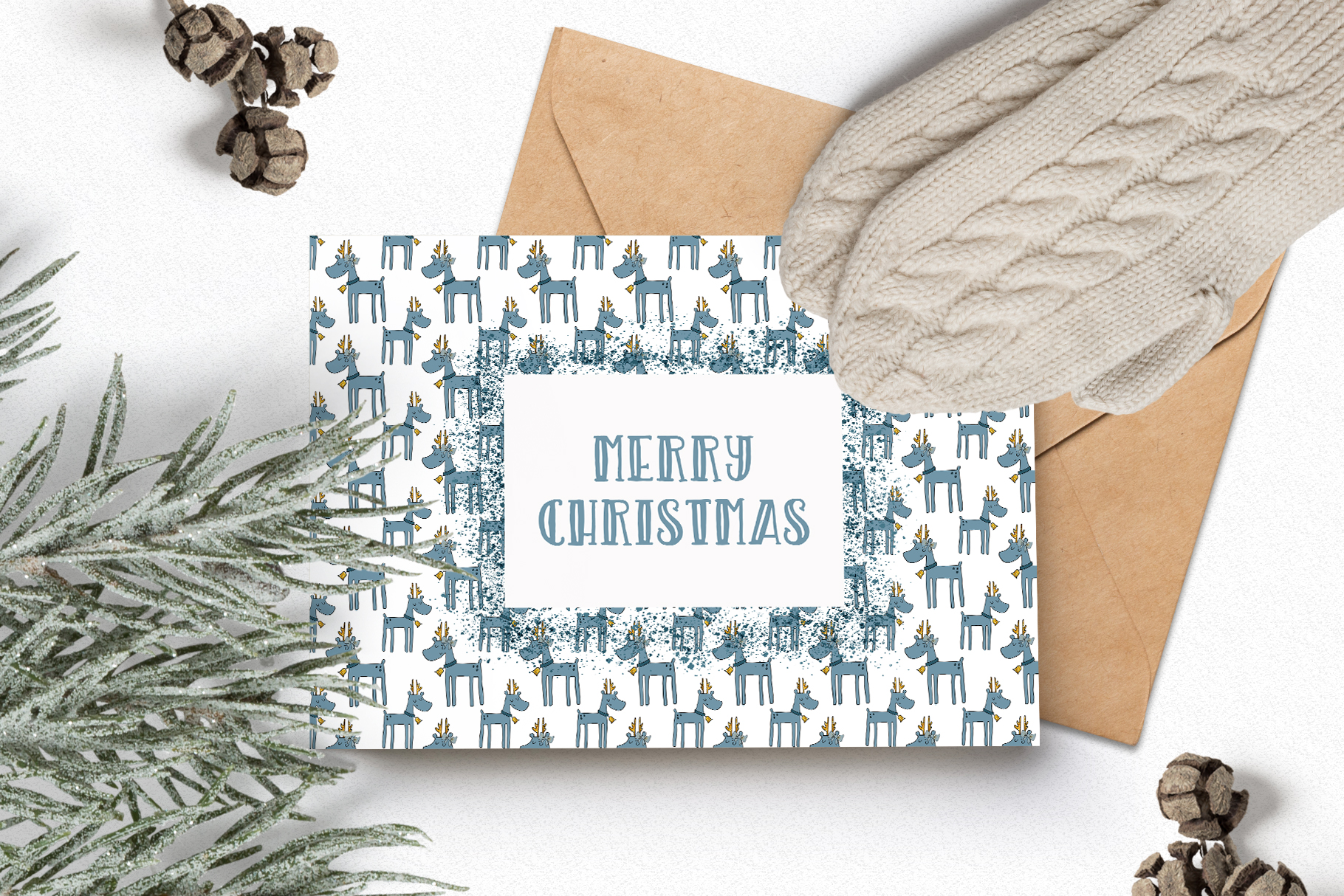 Christmas Clipart and Pattern Bundle example image 12