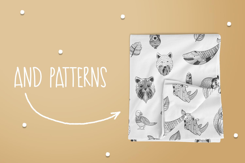 Zen Doodle Animals example image 4