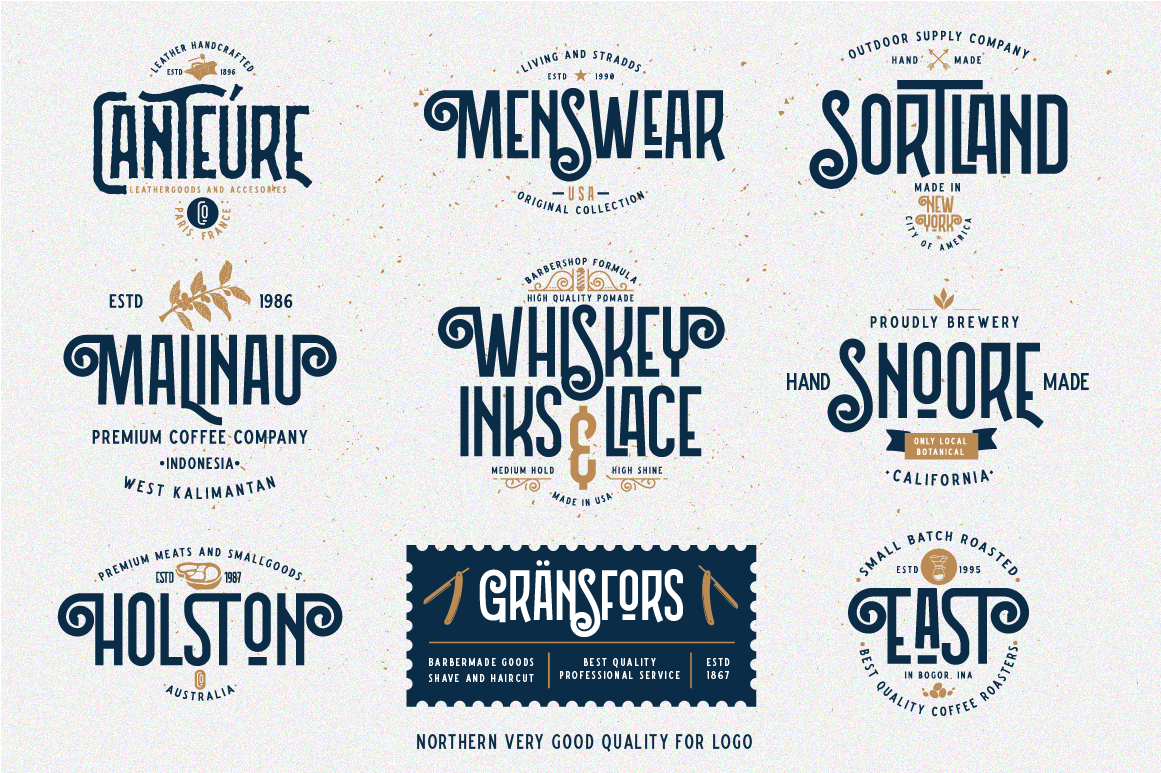 Northern 5 Fonts with Extras example image 15