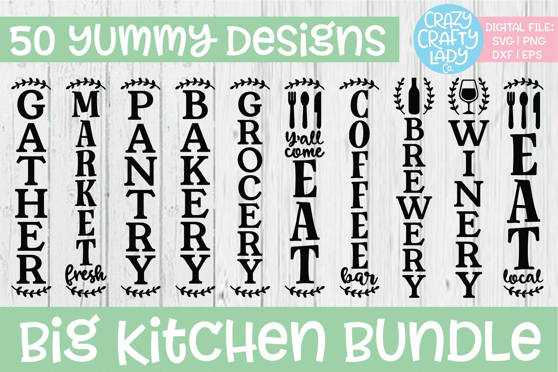 Big Kitchen SVG DXF EPS PNG Cut File Bundle example image 4