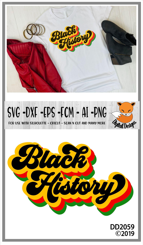 Black History Retro Text SVG example image 2
