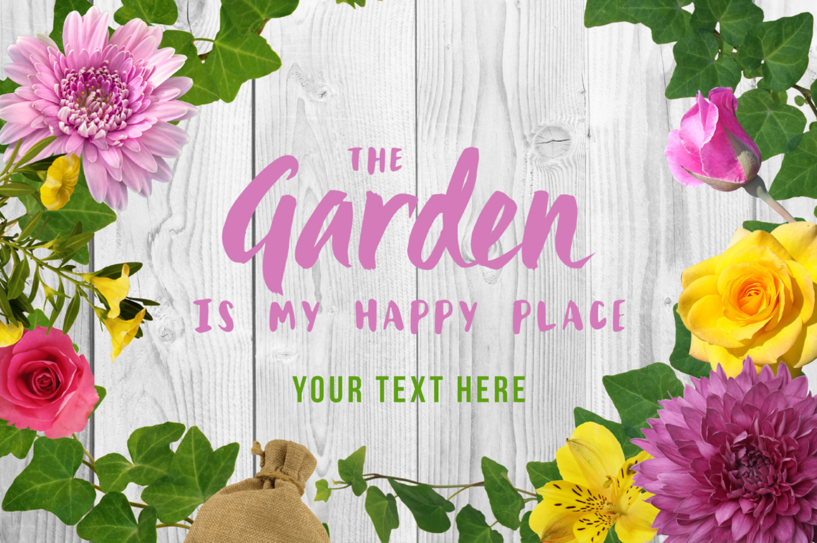 Spring Floral Mockup Scene Creator example image 3