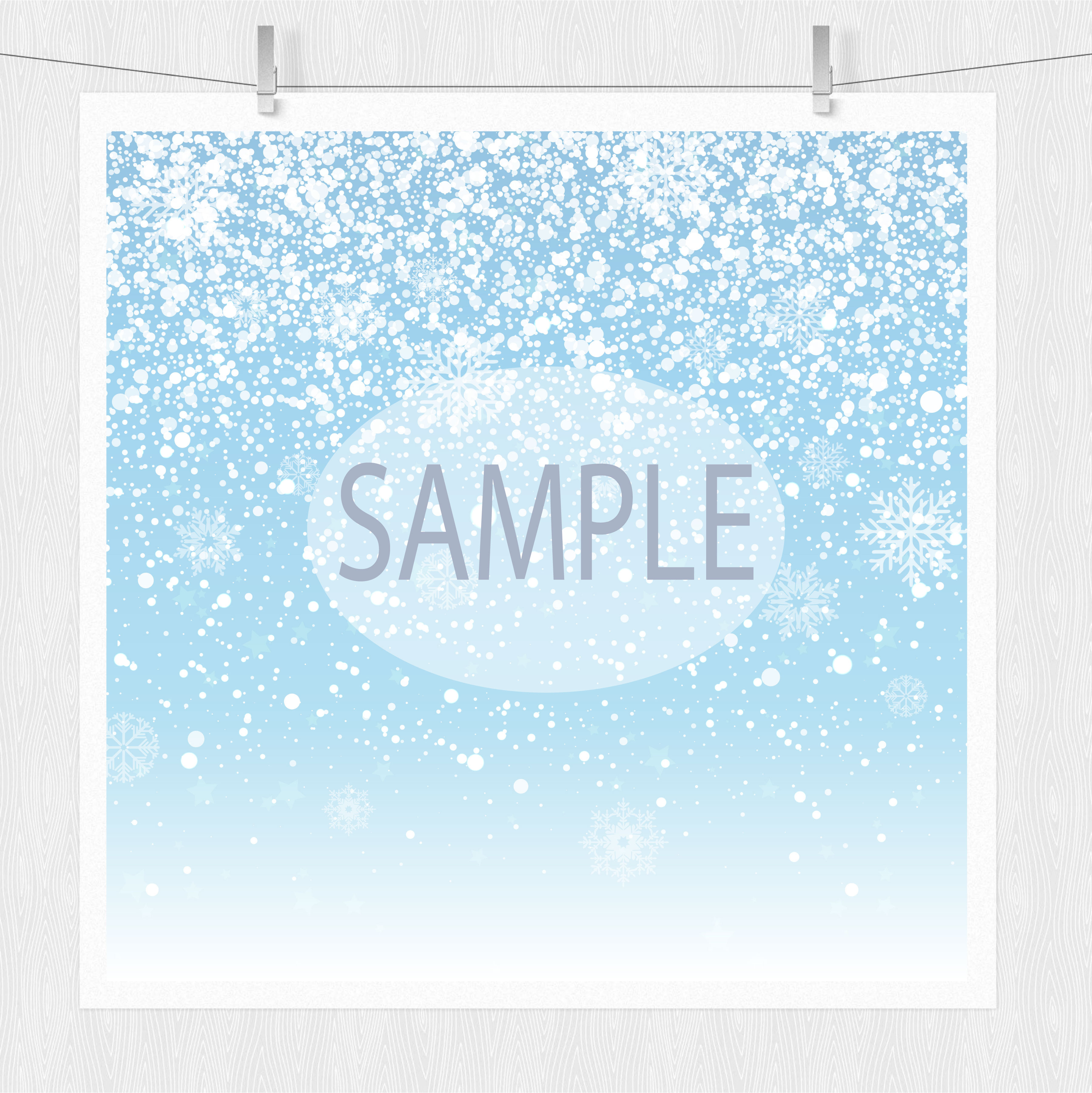 Snowflake Clipart & Winter Digital Paper example image 5