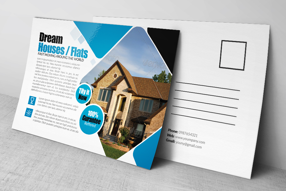 Real Estate Agency Postcards example image 2