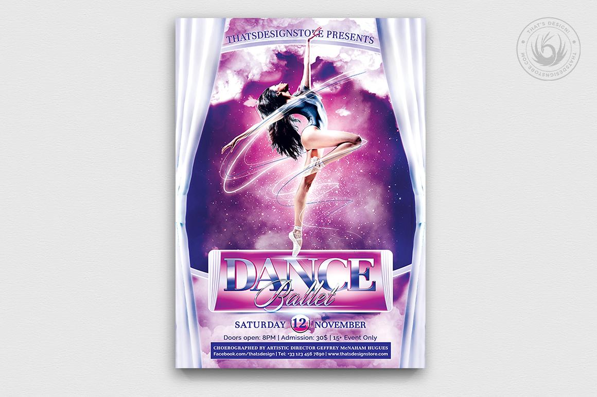 Dance Ballet Flyer Template V1 example image 1