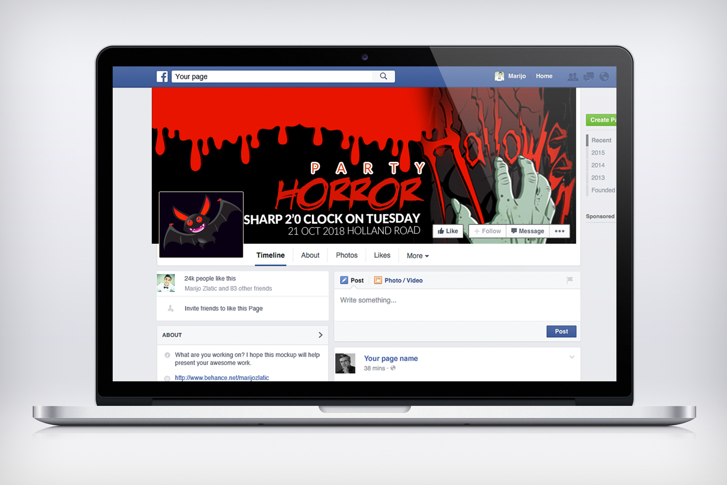 Halloween Horror Night Facebook Timeline Cover example image 3