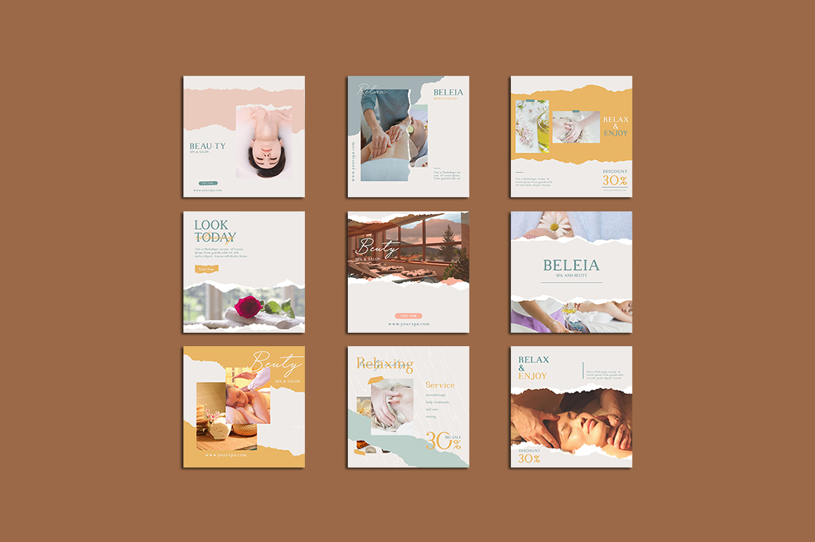 Relax Instagram Templates example image 8