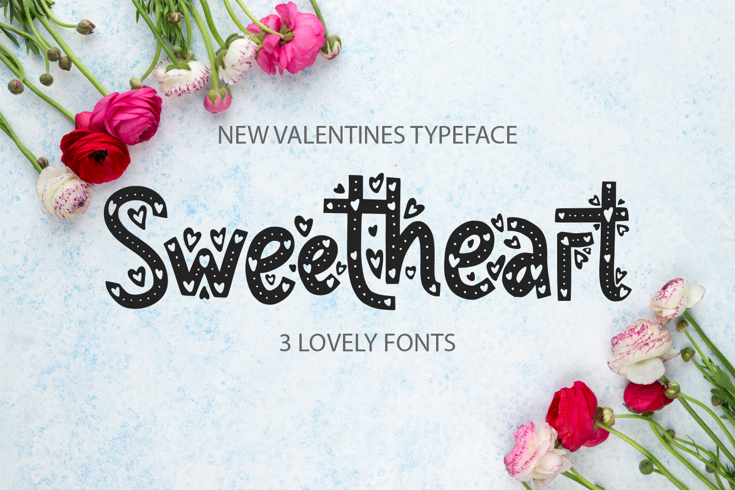 Sweetheart font family example image 1