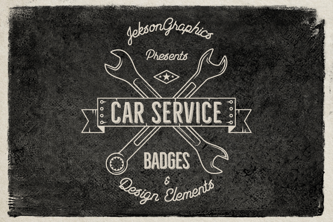 Car Service Badges & Elements example image 2