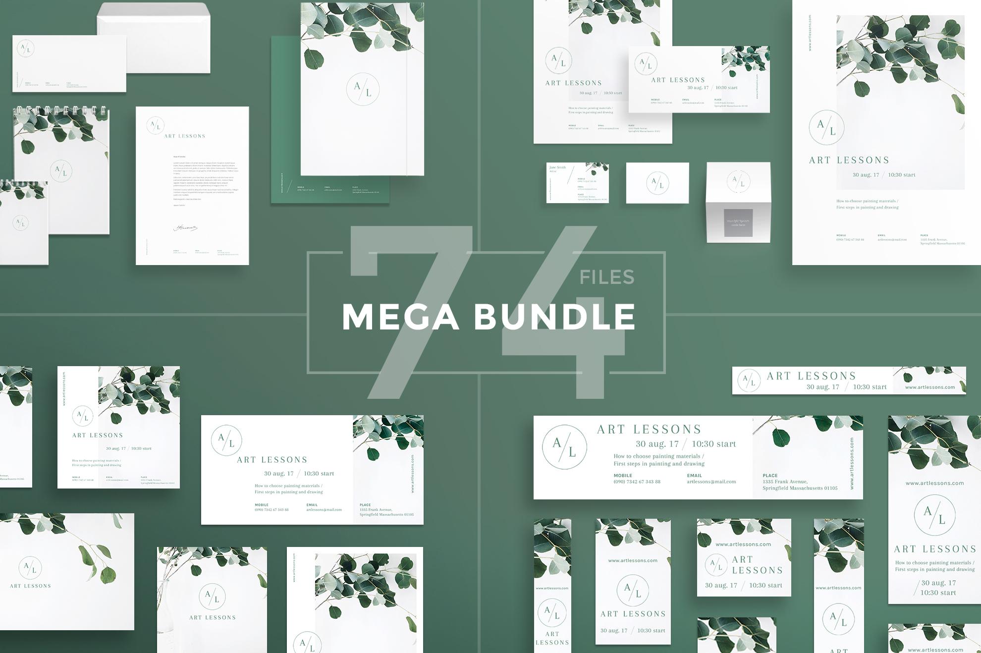 Art Lessons Masterclass Workshop Design Templates Bundle example image 1