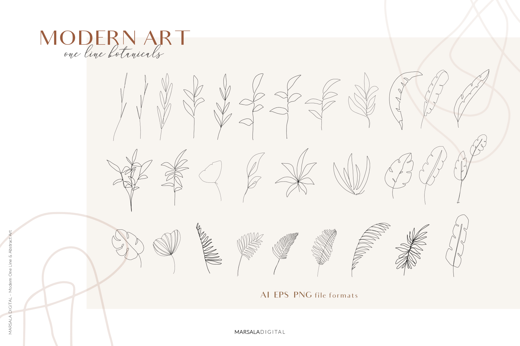MODERN ART One Line and Abstract Graphics Prints example image 14