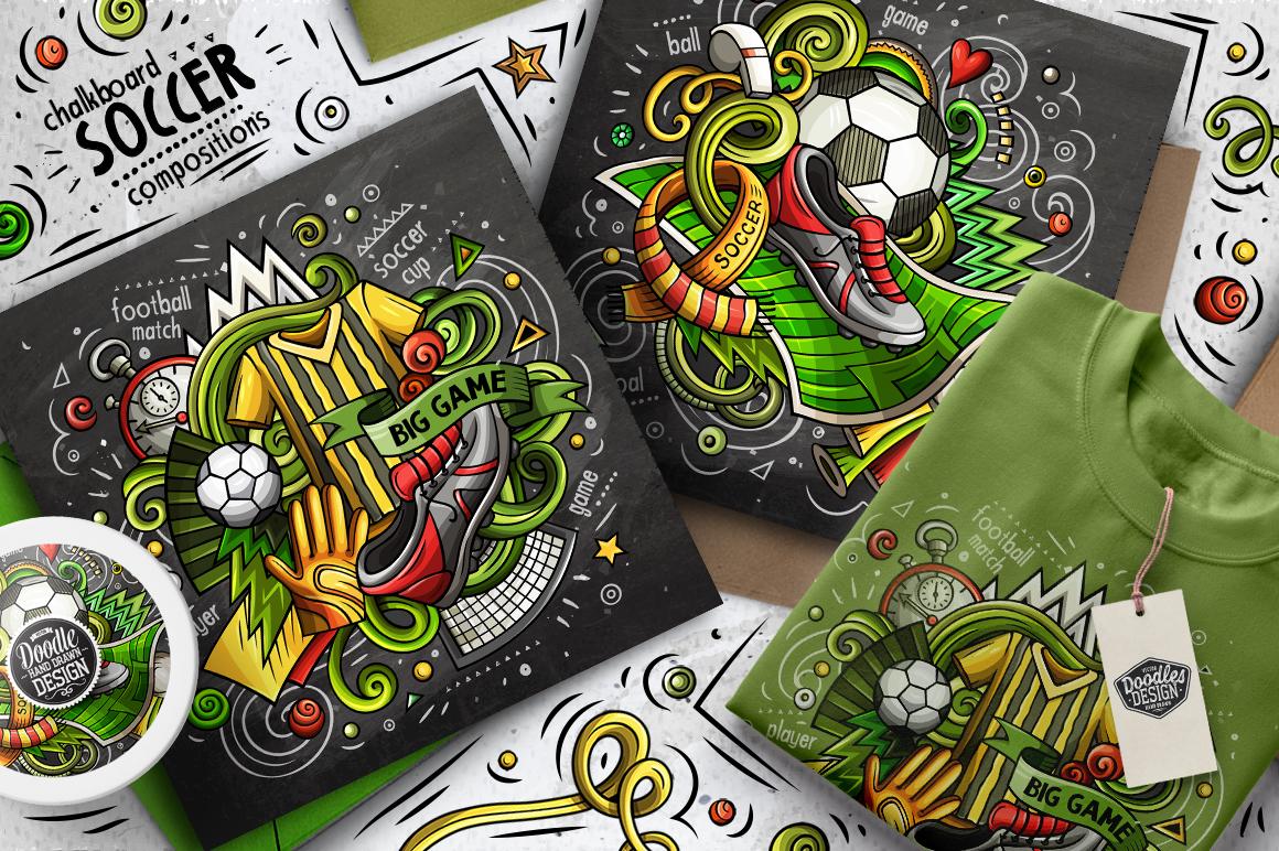 Soccer Cartoon Doodle Big Pack example image 5