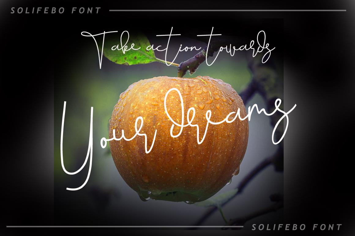 Solifebo Font example image 3