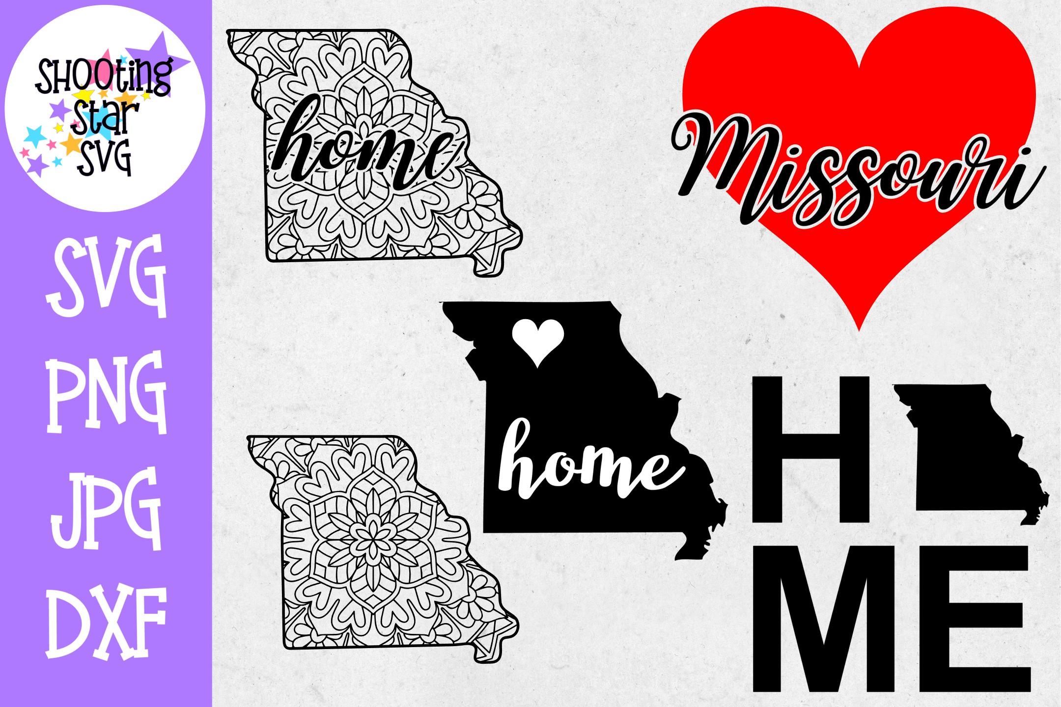 Missouri US State SVG Decal Bundle - 50 States SVG example image 1