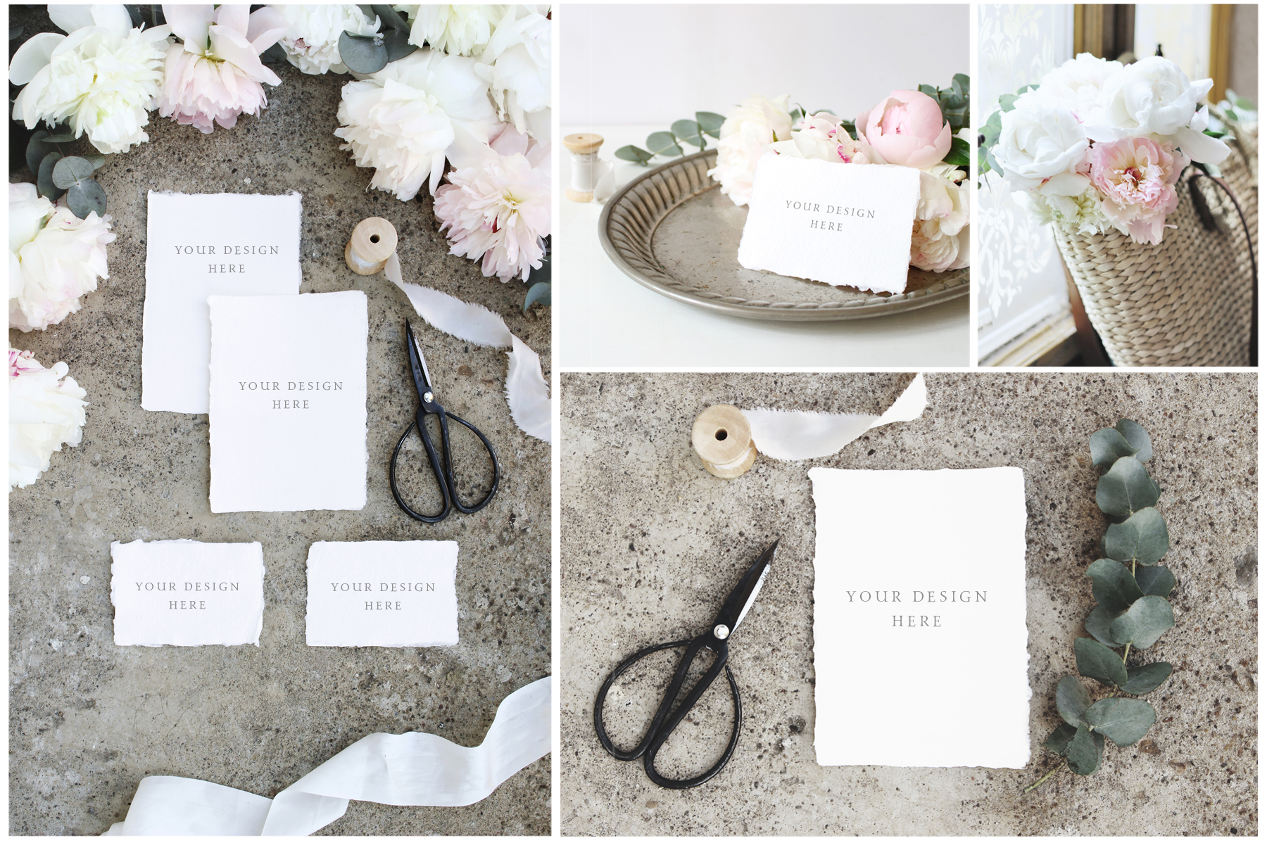 Vintage peony wedding mockups & stock photo bundle example image 5