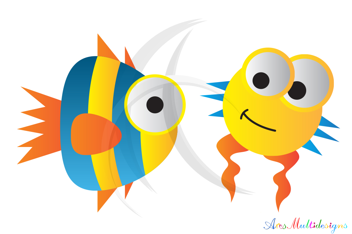 sea animal svg /sea animals clip art SVG /sea animal vector/ hand drawn doodle sea creatures / Eps / Png / printable example image 4