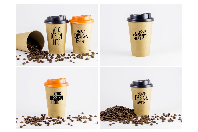 Coffee cup mockup bundle #1, paper coffee cup, mockup bundle example image 2