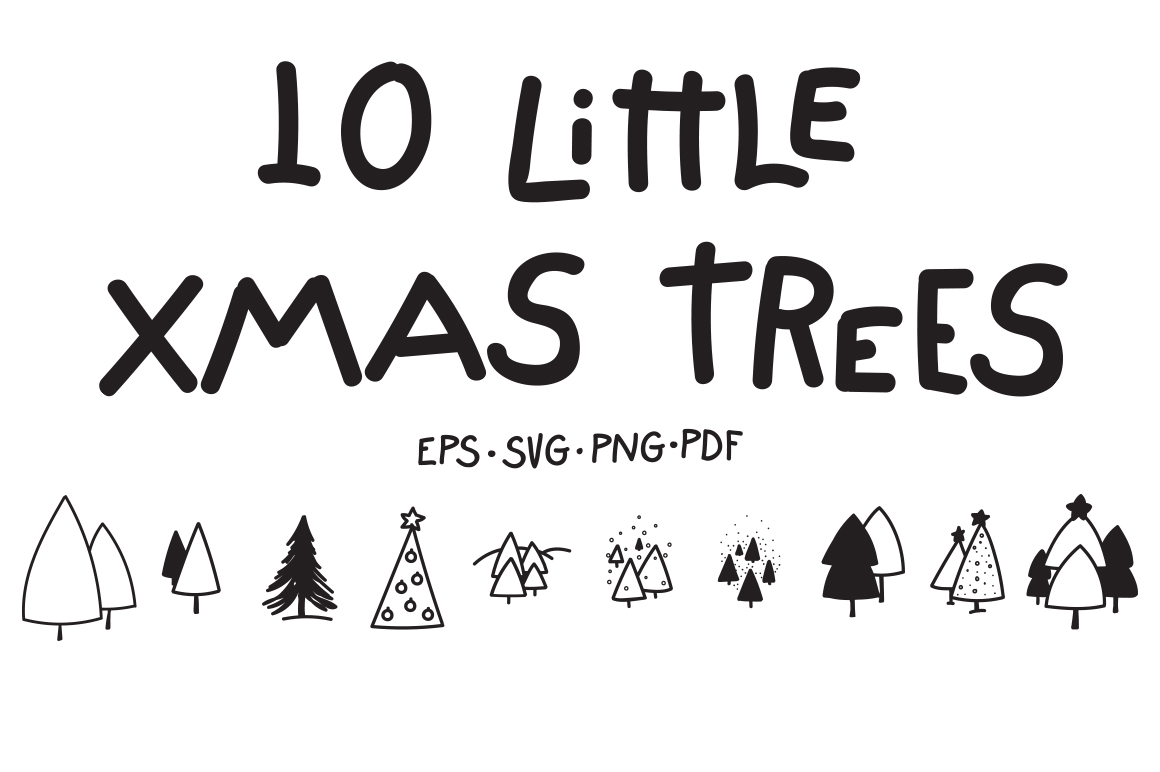10 Little Xmas Trees example image 1