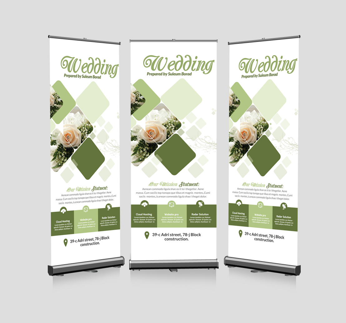 Wedding Invitation Roll Up Banners example image 1