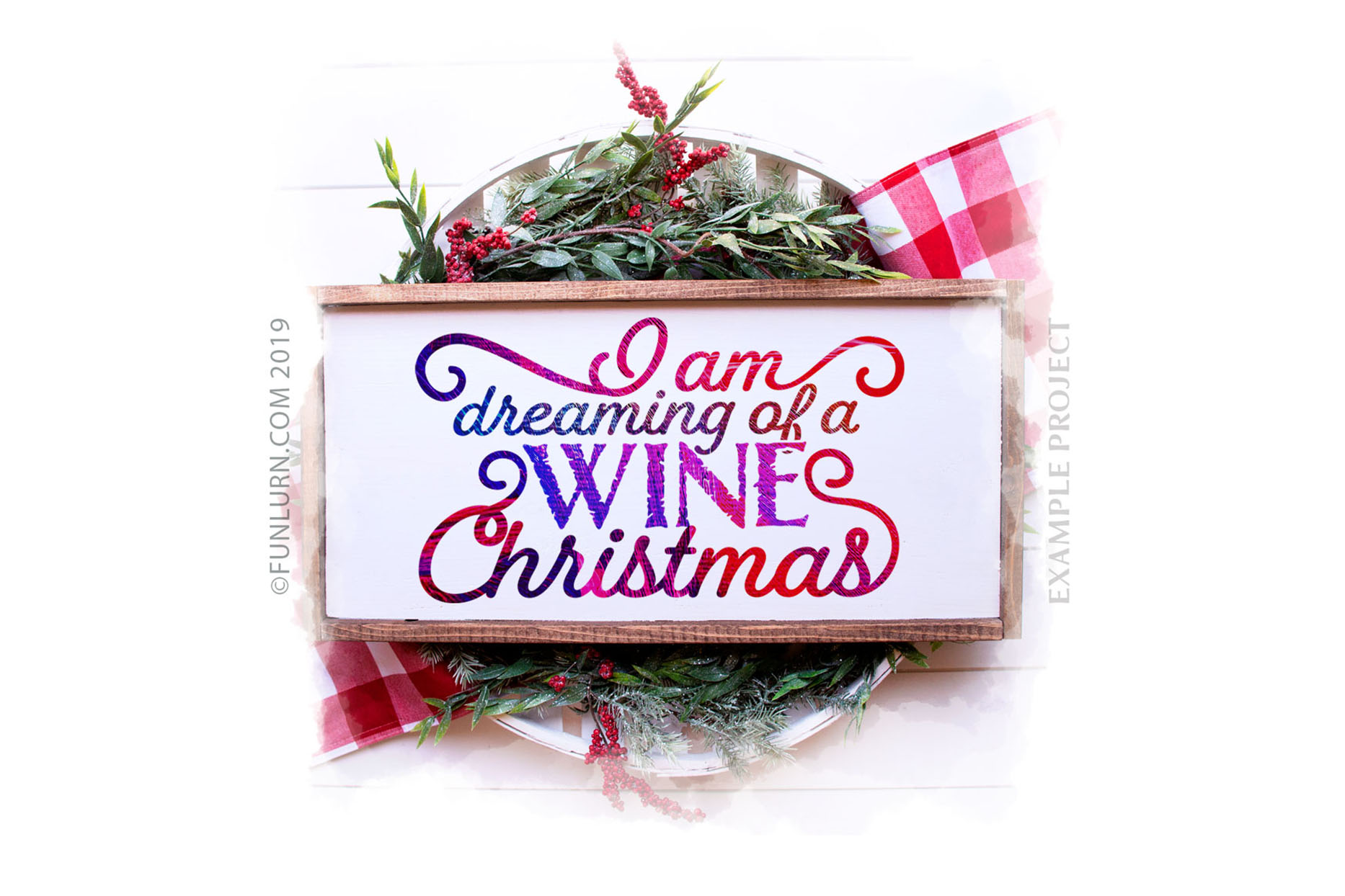 I Am Dreaming of a Wine Christmas SVG Cut File example image 3