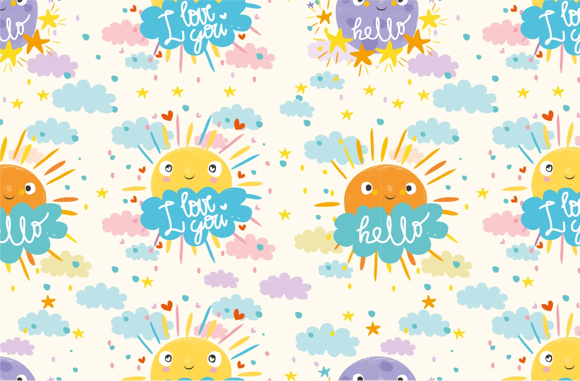 Cute sun and cloud example image 3