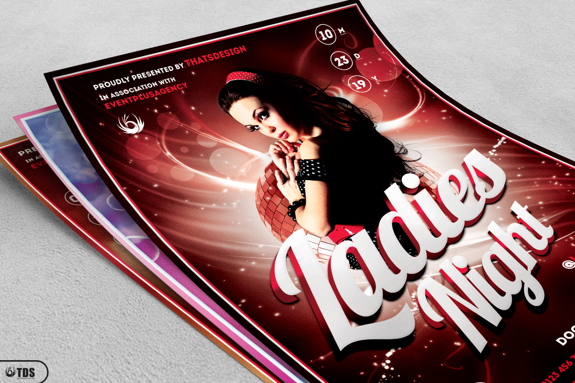 Ladies Night Flyer Bundle V1 example image 4