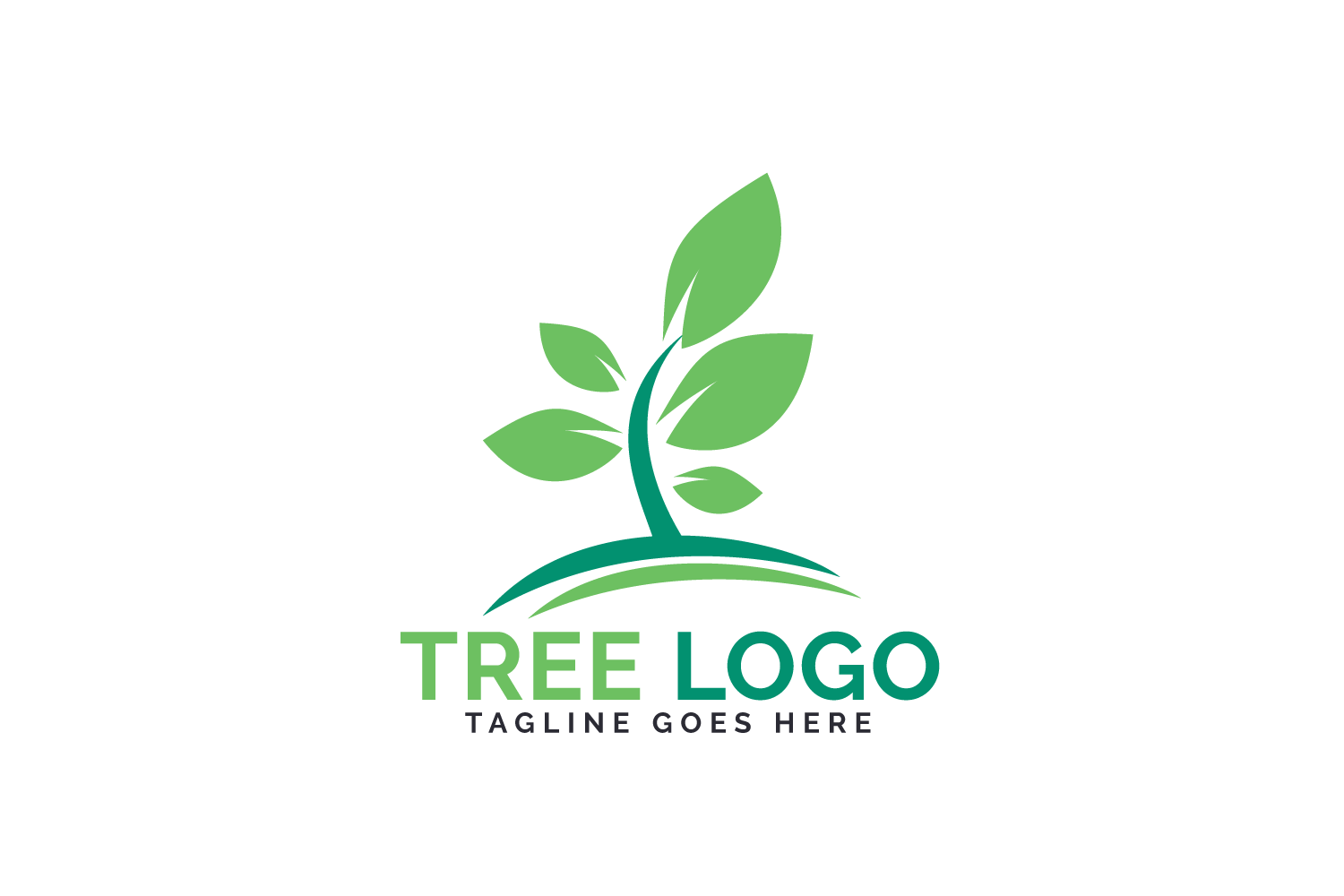 Green Tree logo design. example image 2