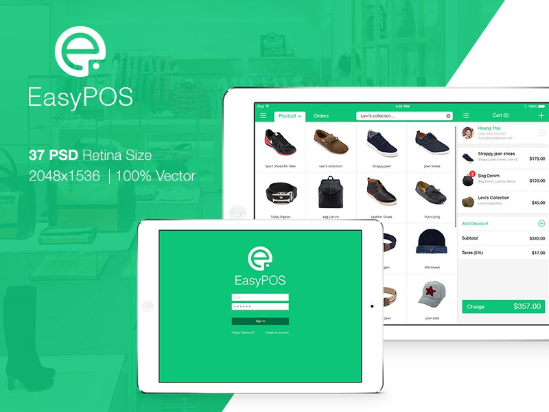 EasyPOS Touch Retails UI Graphic example image 1