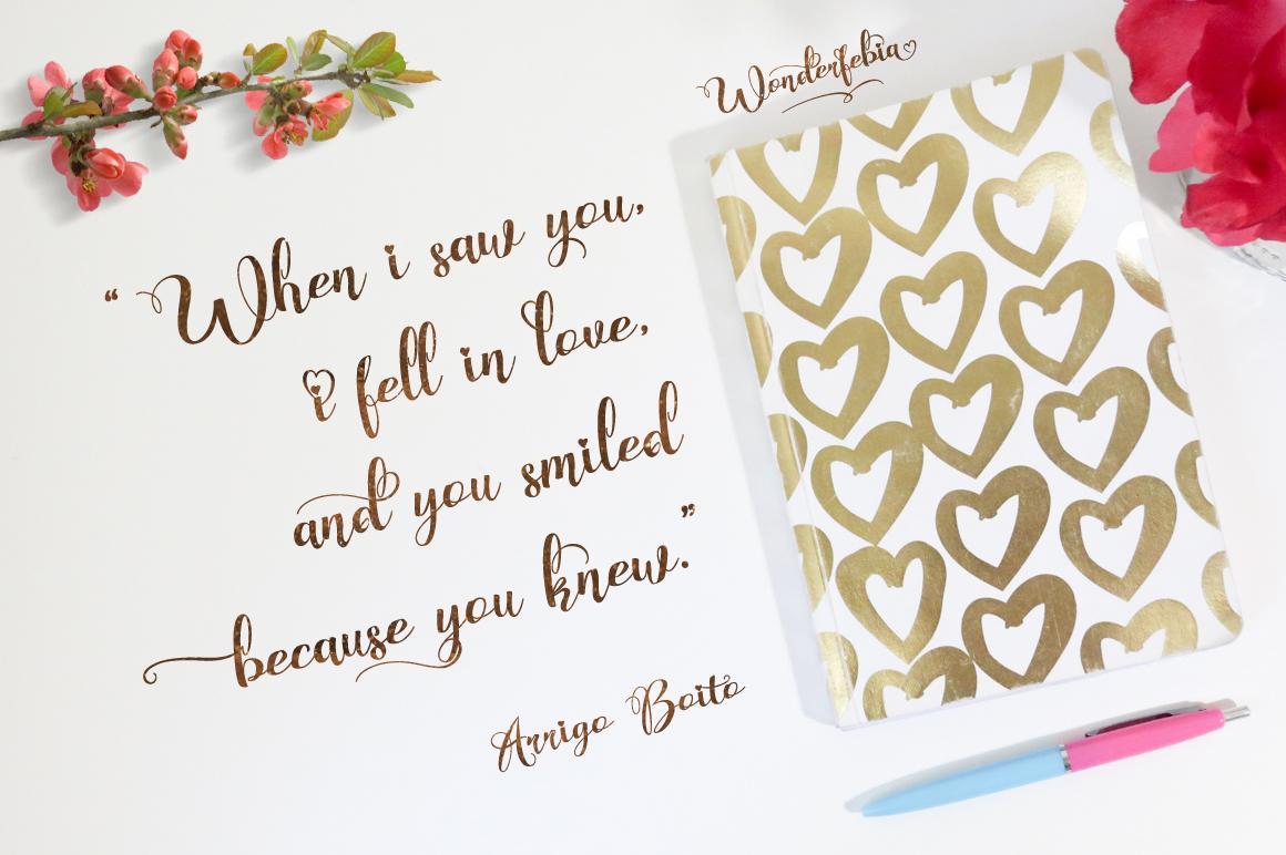 Wonderfebia - Script Wedding Font example image 6