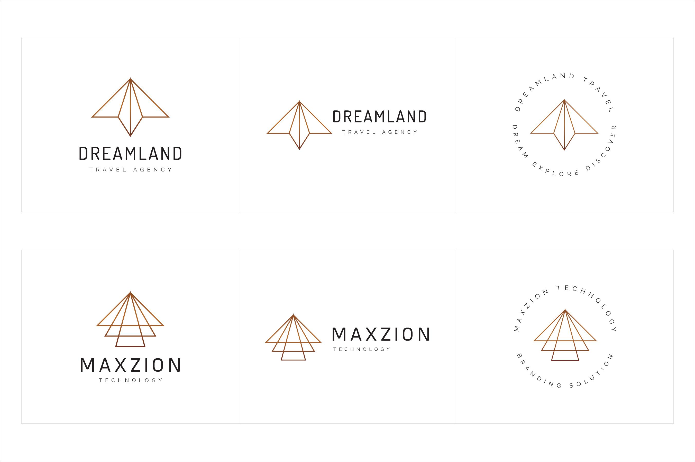 300 Geometric Premade Logo Bundle example image 20