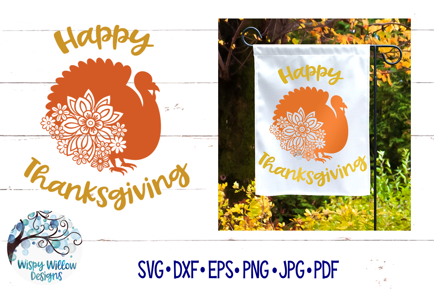 Happy Thanksgiving SVG |Turkey SVG | Fall SVG Cut File example image 1