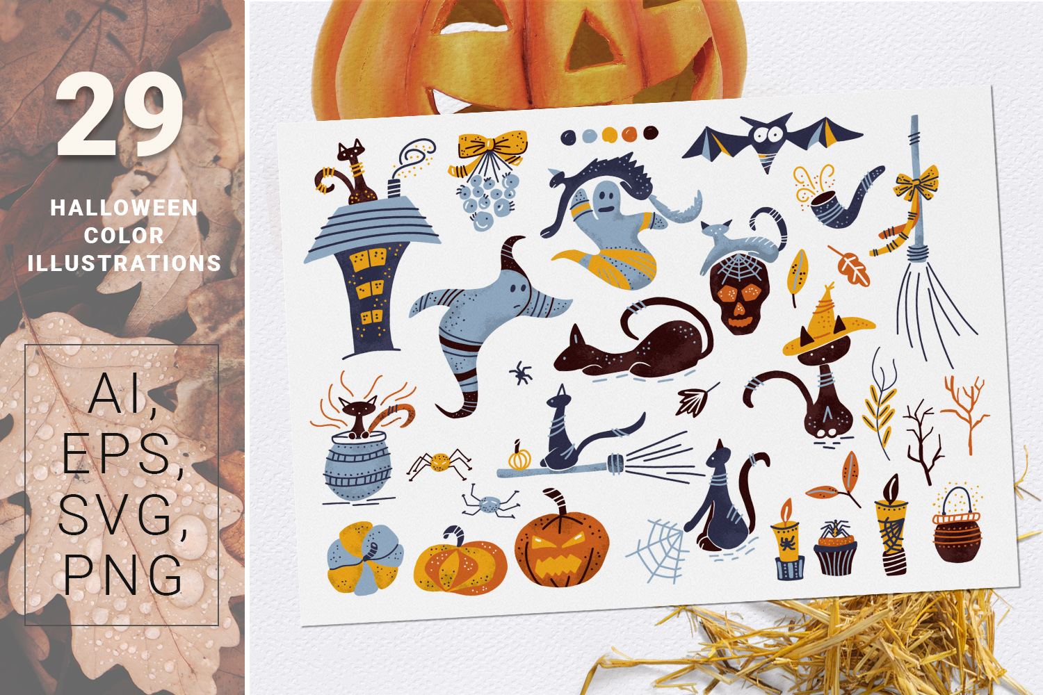 BOO! - Halloween design kit example image 4
