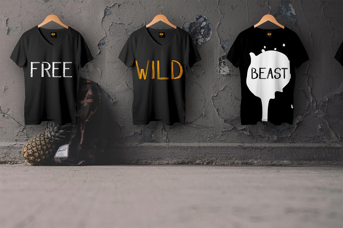 WILD & FREE Brush Font example image 4