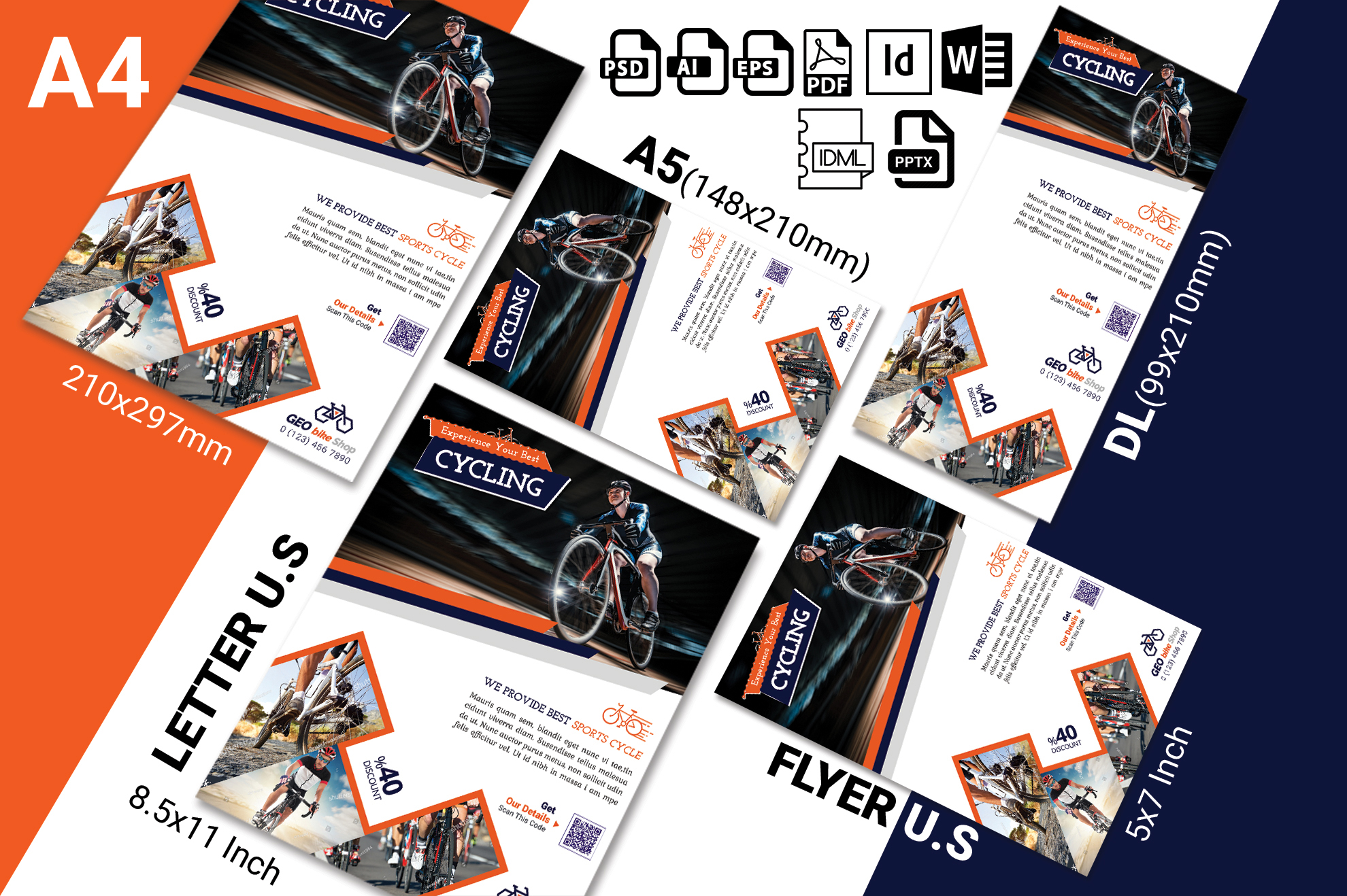 Cycle Shop Flyer Template Vol-01 example image 2