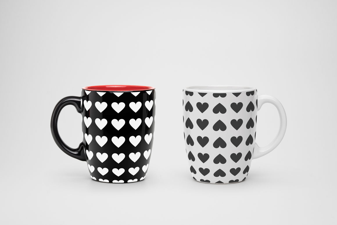 Set of seamless patterns with hearts example image 4