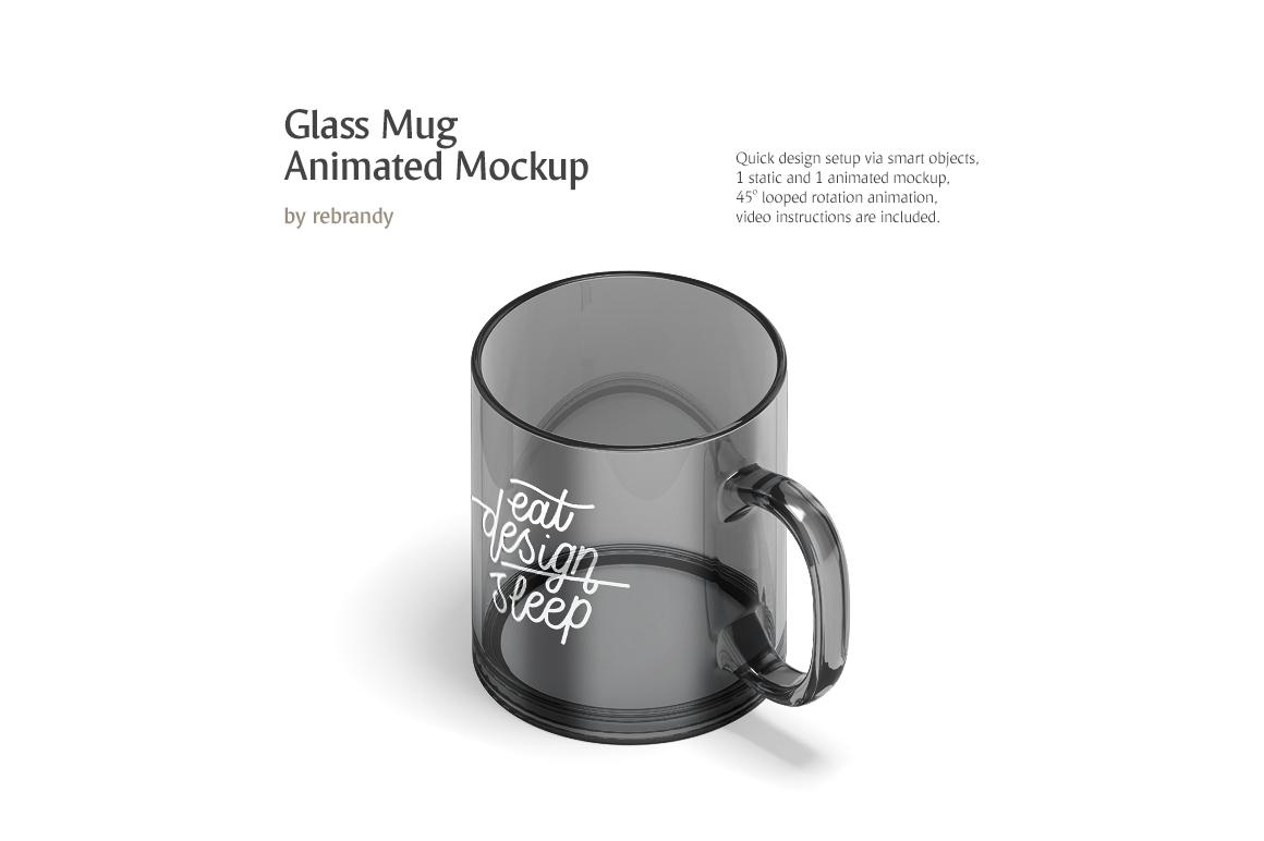 New Glass Mug Animated Mockup example image 1